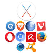 Os x el capitan 10 11 5 and mac antiviruses and browsers logo icon
