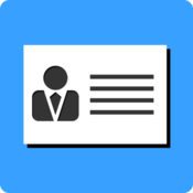 Business card maker for pages icon