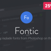 Fontic photoshop plug in icon