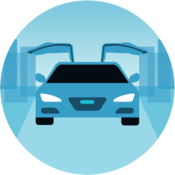 Menucar book rides for uber icon