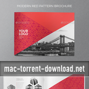 Modern red pattern brochure 16132872 plantilla indd icon icon