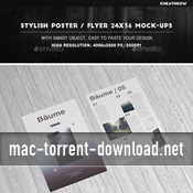 Stylish posterflyer 24x36 mock ups 15970104 icon