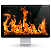 Fireplace live hd romantic screensaver icon