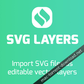 Svg layers panel for adobe photoshop icon