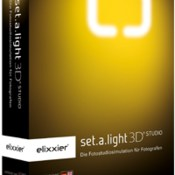 Set a light 3d studio icon