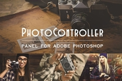 Photo controller panel plugin for adobe photoshop icon