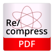 Recompress pdf optimization and recompression icon