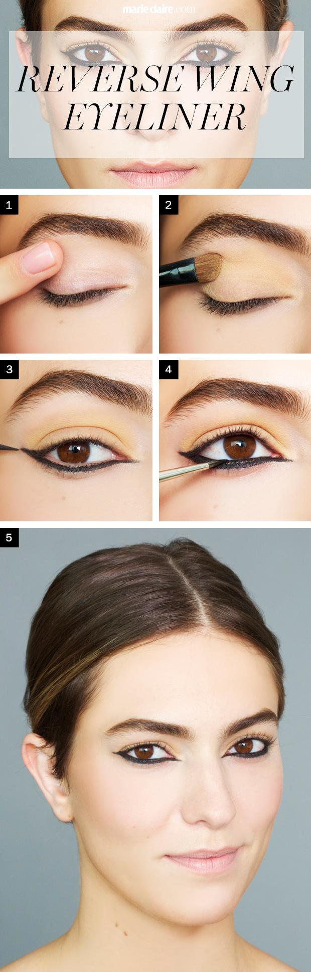 reversed wing eyeliner