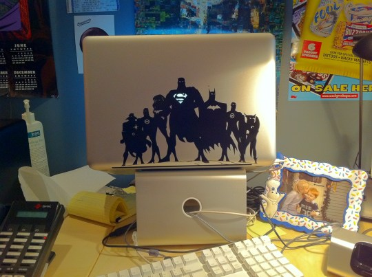 Justice League MAcBook Pro decal