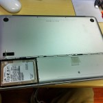 One benefit of the late 2008 MBP, easy access to the main hard drive under the battery compartment