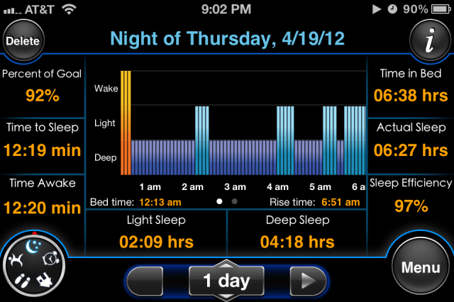 MotionX Sleep iPhone