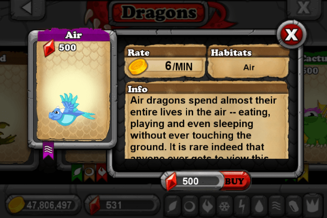 DragonVale AIR Dragon