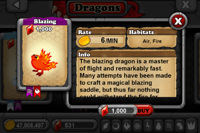 DragonVale BLAZING Dragon