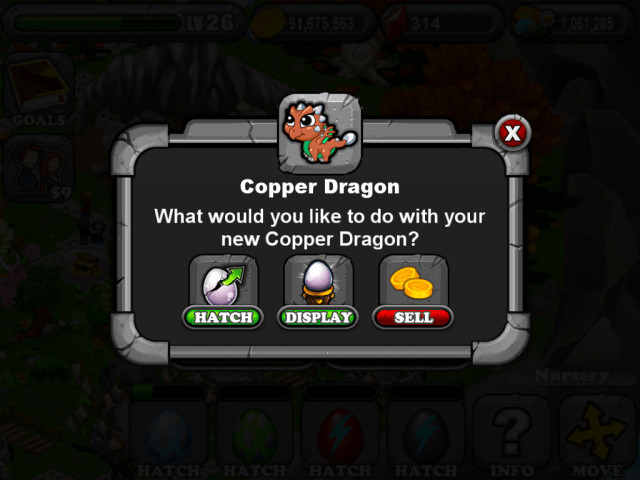 DragonVale COPPER Dragon