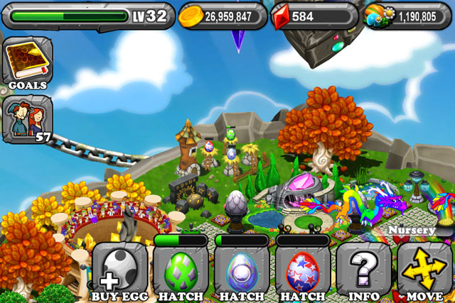 DragonVale FIREWORK Dragon Egg