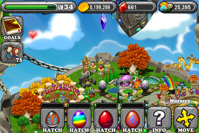 DragonVale OLYMPIC SILVER Dragon Egg