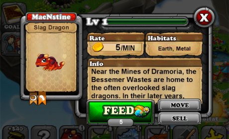 DragonVale SLAG Dragon