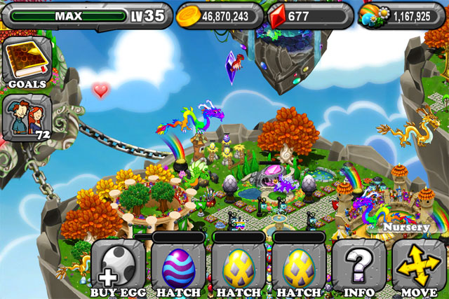 The 1st Egg is the DragonVale Rain Dragon Egg