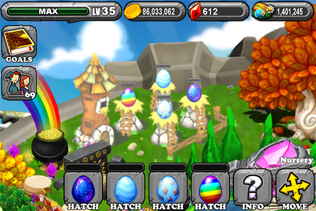 The 1st Egg is the DragonVale Sapphire Dragon Egg