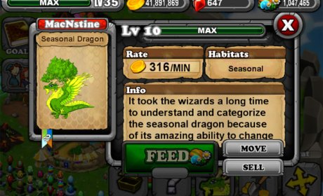 DragonVale Seasonal Dragon