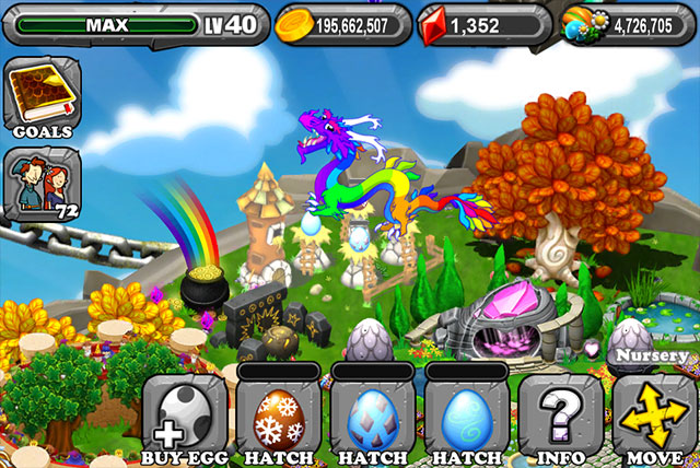 DragonVale Glacier Dragon Egg