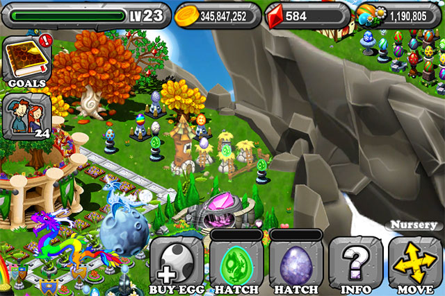 The 2nd Egg is the Dragonvale Platinum Dragon Egg