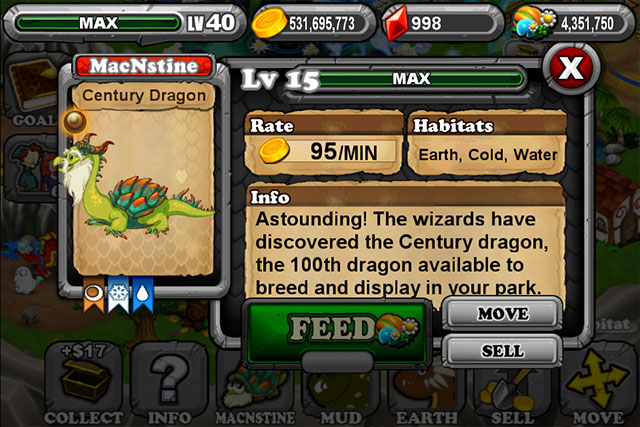Dragonvale Century Dragon