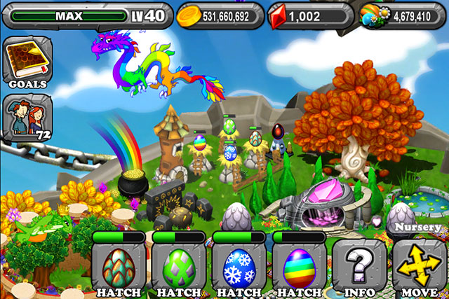 The 1st Egg is the Dragonvale Century Dragon Egg