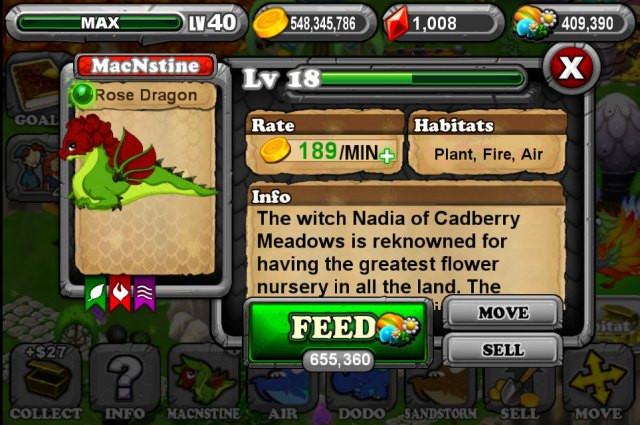 Dragonvale Rose Dragon