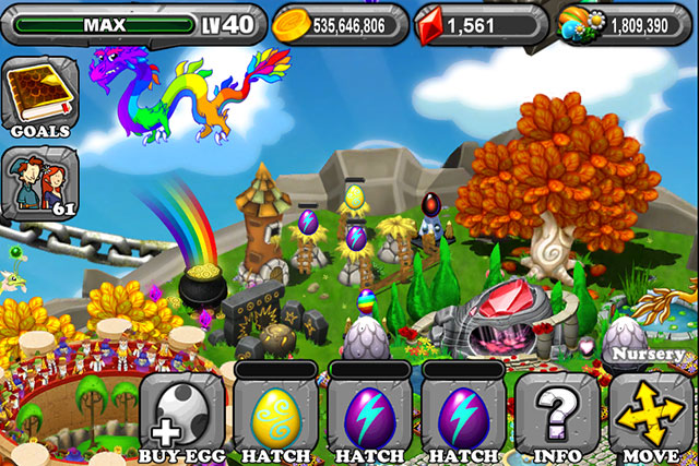 The 1st Egg is the Dragonvale Thunder Dragon Egg