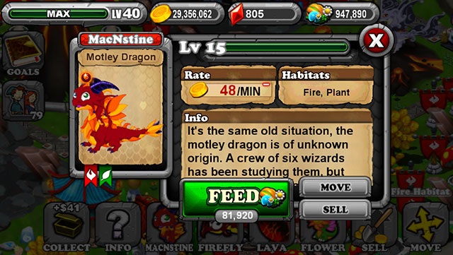 Dragonvale Motley Dragon