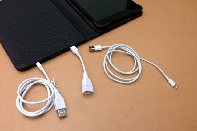 You'll need all three of these cables to charge your iPad.