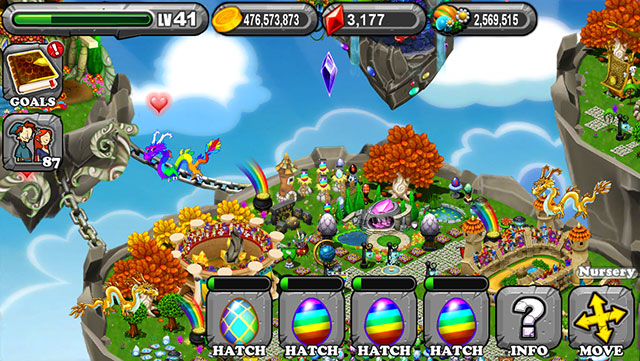 The 1st Egg is the Dragonvale Double Rainbow Dragon Egg