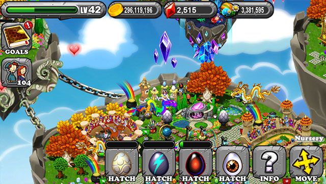 Dragonvale Electrum Dragon Egg