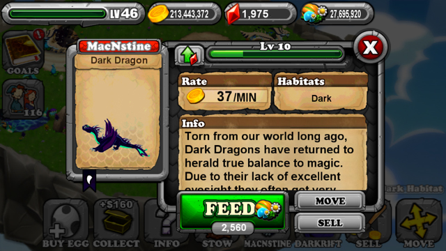 DragonVale Dark Dragon