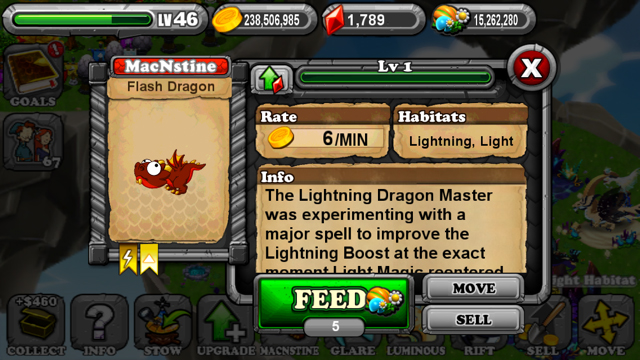 DragonVale Flash Dragon
