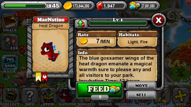 DragonVale Heat Dragon