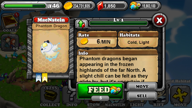 DragonVale Phantom Dragon