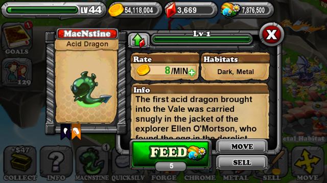 Dragonvale Acid Dragon