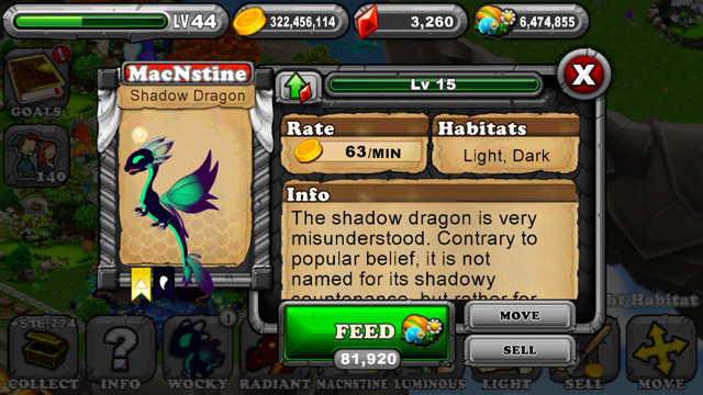Dragonvale Shadow Dragon