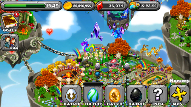 Dragonvale Snowy Bronze Olympus Dragon Egg