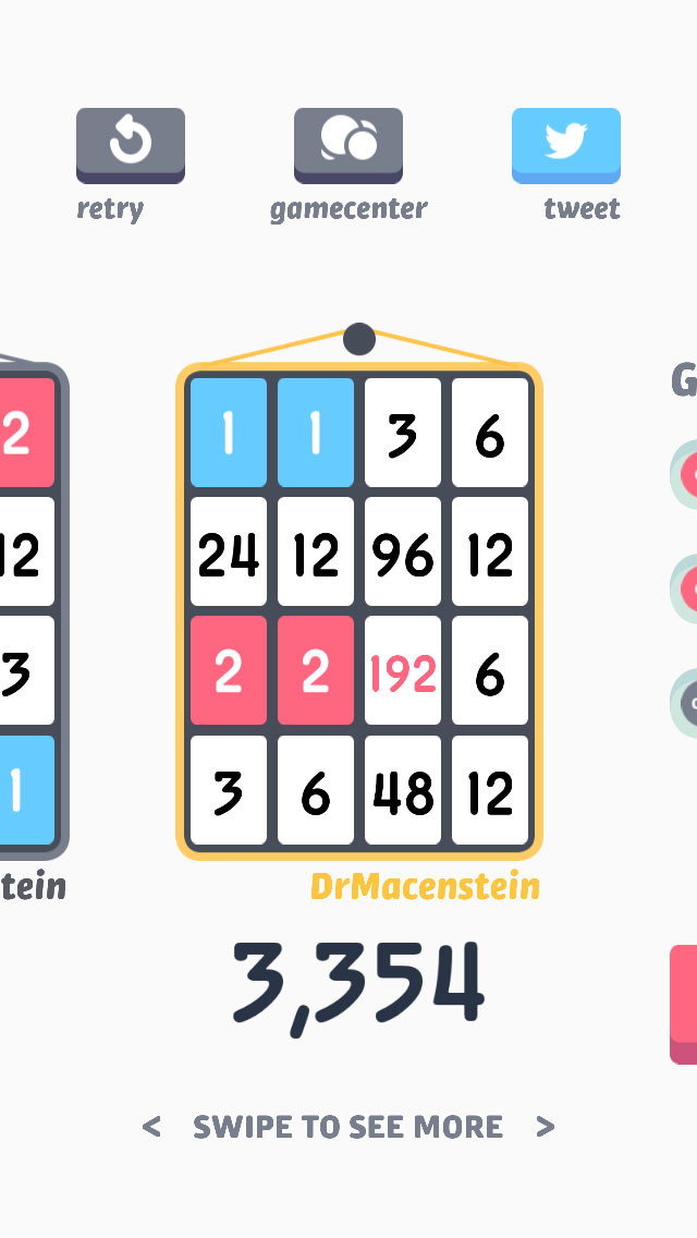 Threes iPhone app