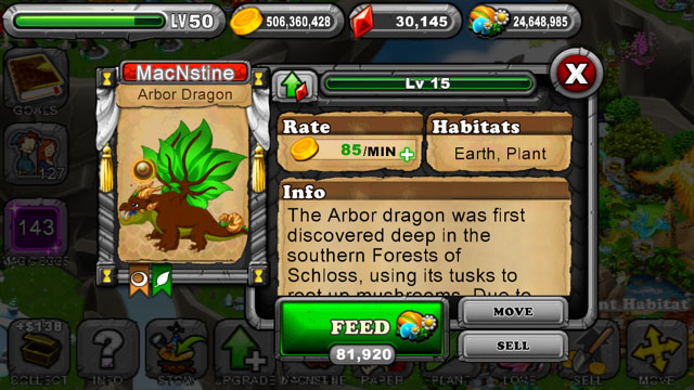 Dragonvale Arbor Dragon