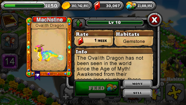Dragonvale Ovalith Dragon