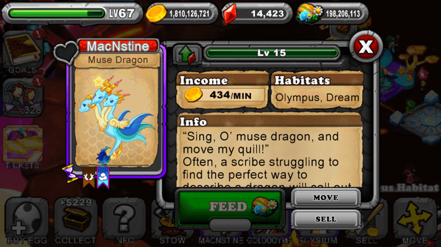 DragonVale Muse Dragon