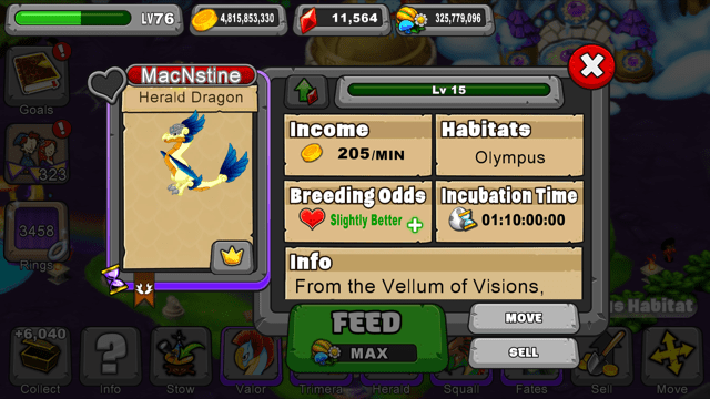 DragonVale Herald Dragon