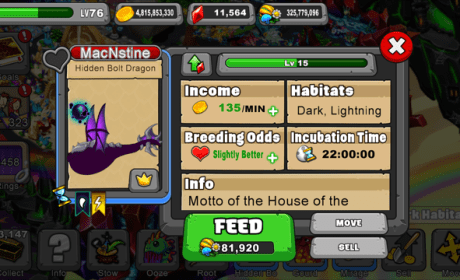 DragonVale Hidden Bolt Dragon