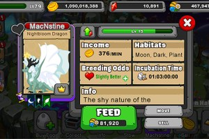 Dragonvale nightbloom dragon