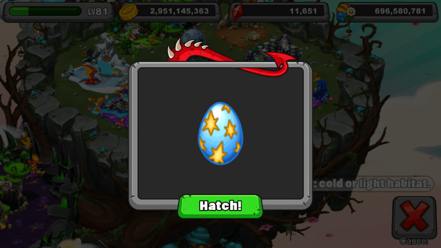 Dragonvale Candescent Dragon Egg