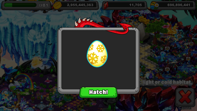 Dragonvale Fluorescent Dragon Egg